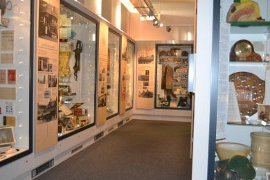 This photo shows additional displays in the Heritage gallery.