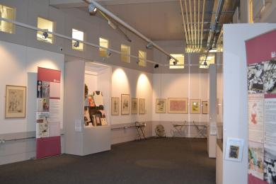 This photo shows the whole of the exhibition room.