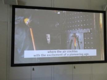 Subtitles on the Derwent Valley Mills video