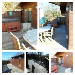 Tawny Lodge Decking with Private Hot Tub