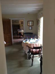 Entrance from the guests lounge into the dining areas.