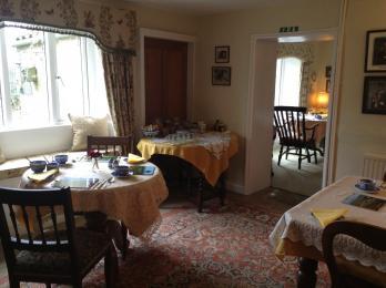Dining room area at Farfields Farm.