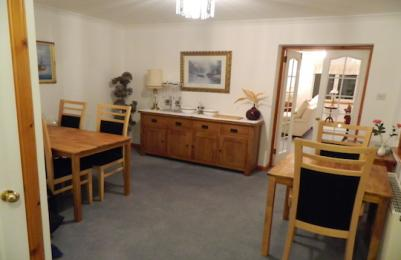 Dining room showing clear floor area