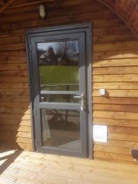 Door at accessible cabin.