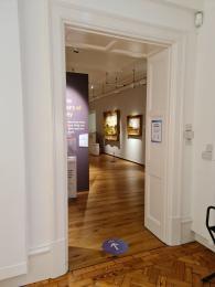 Doorway into main gallery