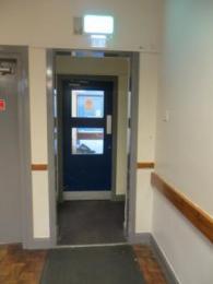 Doorway at rear of Annex narrowest point 760mm