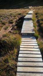 Dwarfie Stone path boardwalk