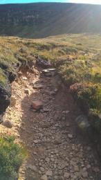 Dwarfie Stone path stony surface