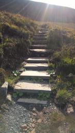 Dwarfie Stone path stone steps