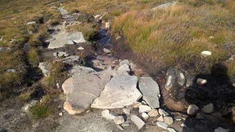 Dwarfie Stone path surface rocks