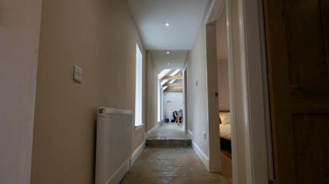 Corridor with step