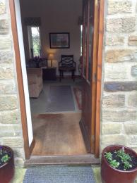 Entrance into farmhouse to the lounge and dining areas.
