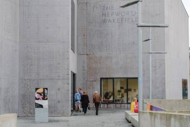 This is the entrance to The Hepworth Wakefield