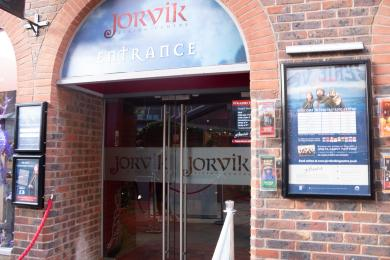 Jorvik entrance from the street.