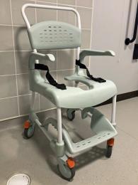 Etac Clean shower commode chair & belt
