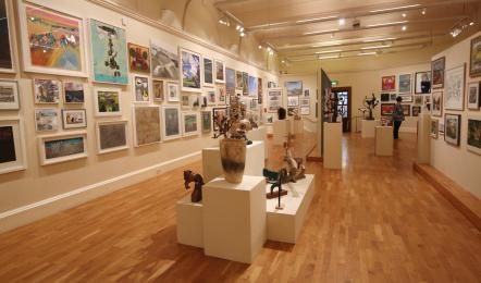 The large lower gallery where temporary exhibitions are installed