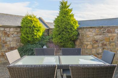 Enclosed Terrace and Lawn Area