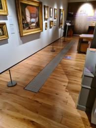 The first gallery space