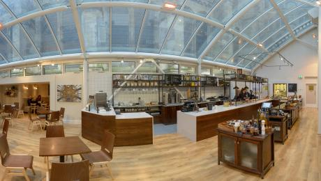 Fish eye view of The Refectory
