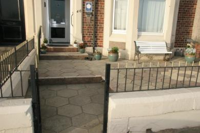 Front entrance showing 3 steps