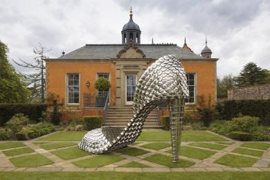 Image showing Ballroom Gallery garden and entrance (including temporary exhibition piece by Joana Vasconcelos)