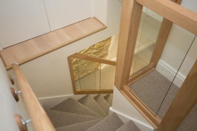 Stair case to the second floor