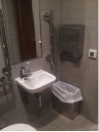Accessible Toilet, sink and towel dispenser