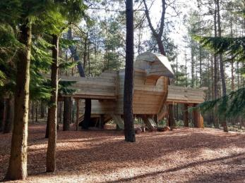 Hawk House structure on Moors Valley Play Trail
