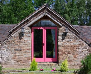 Garden doors.