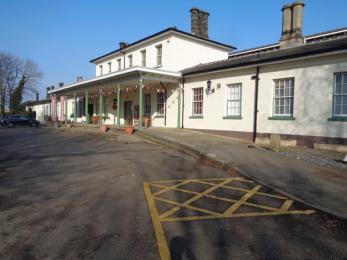Head of Steam Darlington Railway Museum ramp to front door