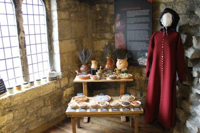 A display about medieval medicine.