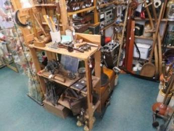 Inside Heritage Antiques, showing clear access routes.
