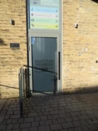 Hub external door from outside building