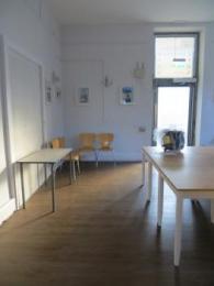 Hub interior showing far end and external door
