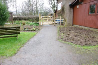 Entrance Aird meadow trail