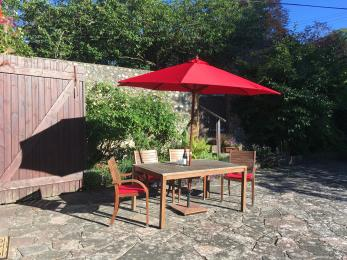 Garden furniture in the courtyard