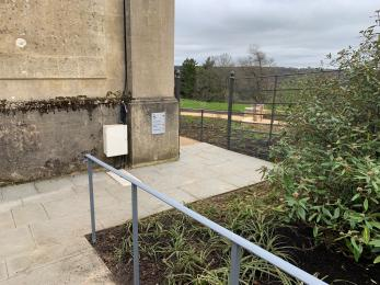 Step free access to New American Garden near the Ticket Office