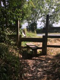 Stile access from bus stop on main road