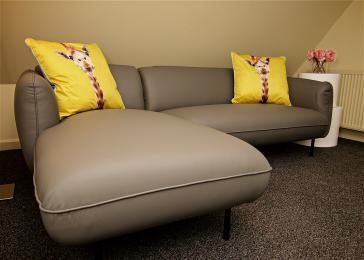Corner sofa in spacious lounge