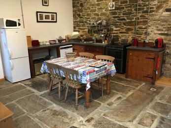 Overview of Stable Cottage kitchen