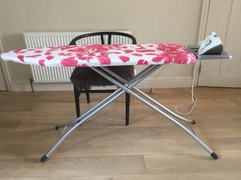 Ironing board with desk chair