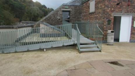The ramp from the Roof Garden to the Attic Space