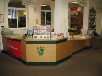 Museum reception desk