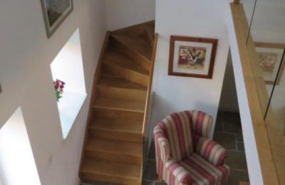 Stairs to bedroom at Doodale Cottage