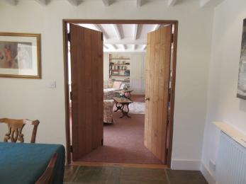 Double doors from Dining Room to Lounge