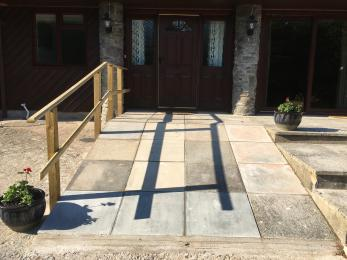 Ramp access to front door