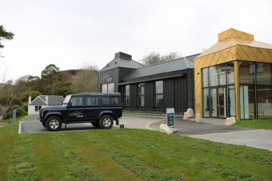 Showing the distance between the distillery entrance and disabled parking.