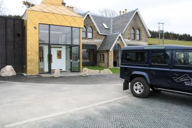Showing the distance between the distillery and accommodation entrance to the disabled parking.