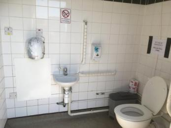 Inside of car park toilet