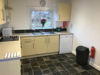 Open plan kitchen area at Otterburn 2